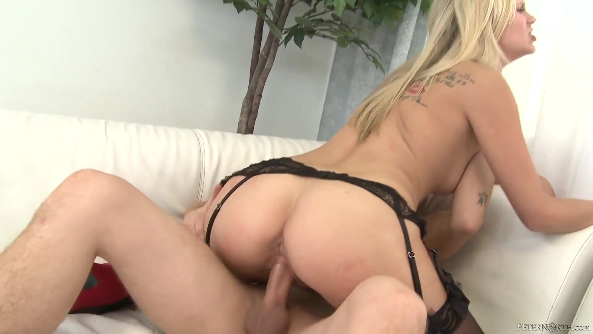 Amazing Blonde With Stockings Gets Fucked Hard - Scarlet Red