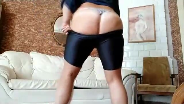 Mature woman is playing with her big tits on cam and even showing her big ass