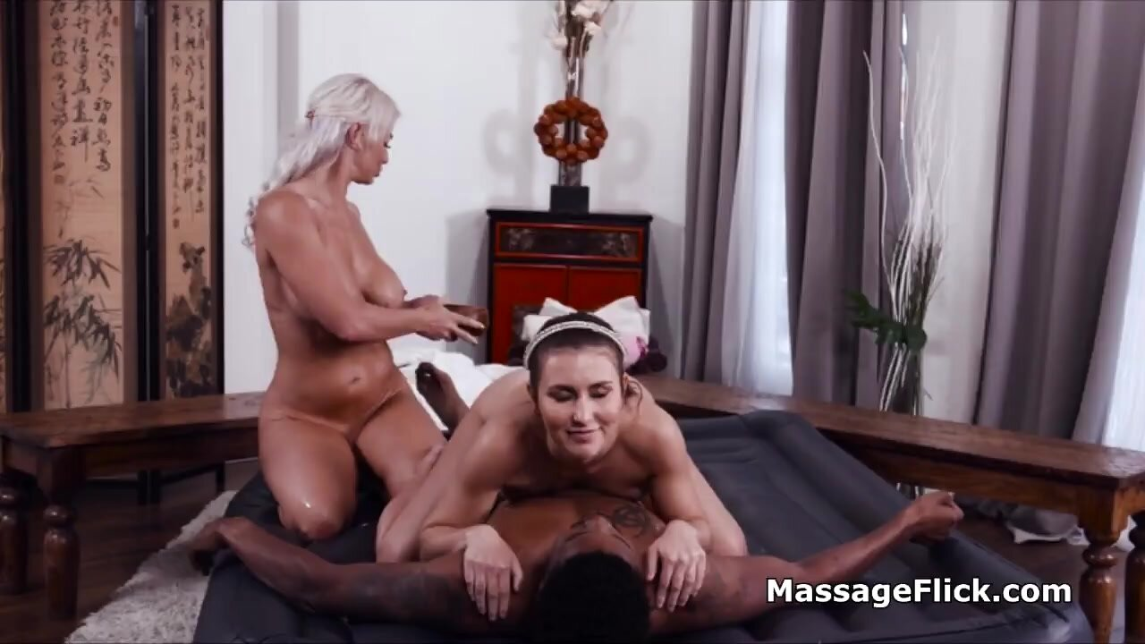 BBC shared by slutty oily masseuses