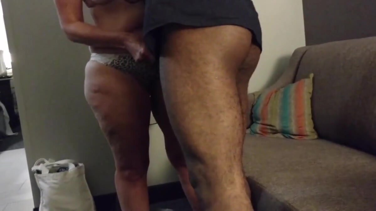 Cuckold - Girl with BBC in Hotel, husband films 4