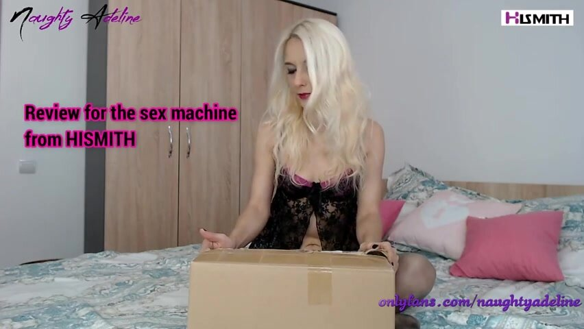 Charming blonde got a new sex toy and couldn't wait to test it on cam